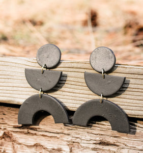 Lucy Black Earrings
