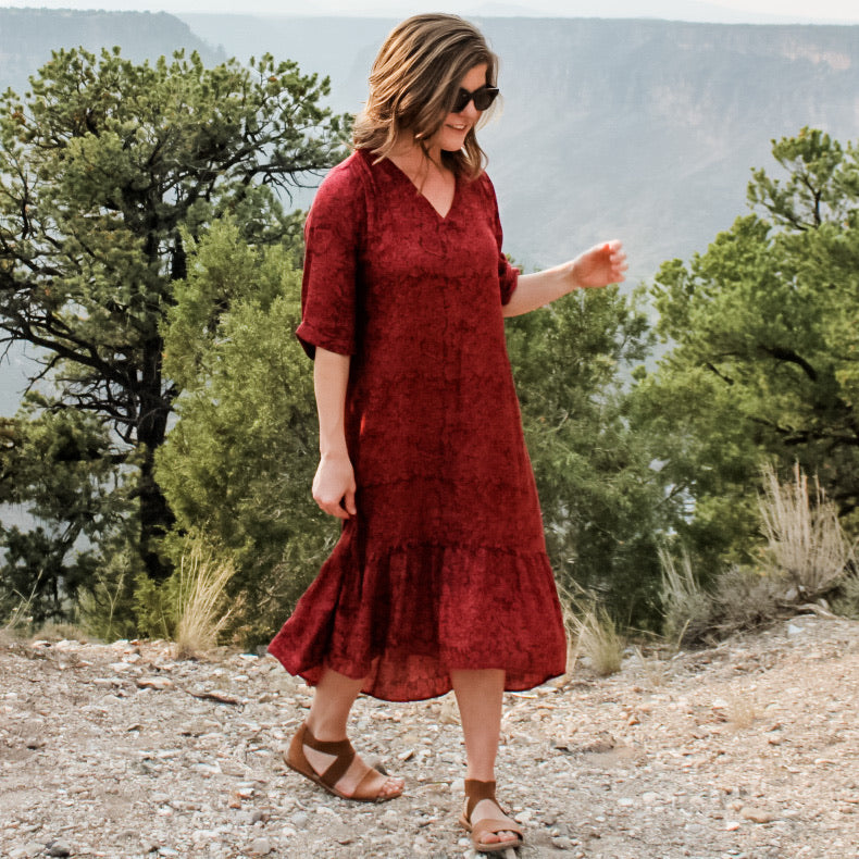 Crimson Ruffle Dress