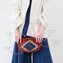 Load image into Gallery viewer, Ruby & Navy Clutch