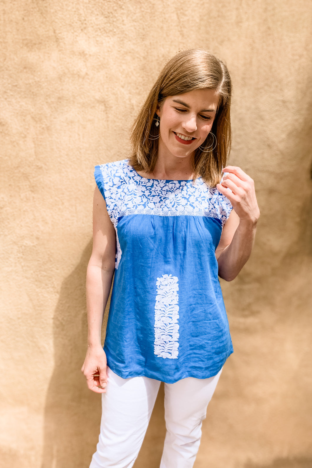 Embroidered Elyse Top