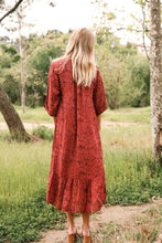 Load image into Gallery viewer, Crimson Ruffle Dress