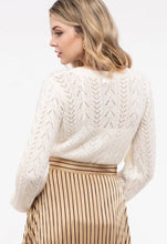 Load image into Gallery viewer, Warm White Open Knit Sweater