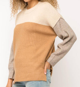 Color Block Pullover Sweater (1 Large)