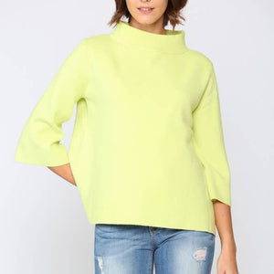 Lime Mock Neck Sweater (Small)