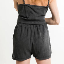 Load image into Gallery viewer, Black Washed Cotton Shorts