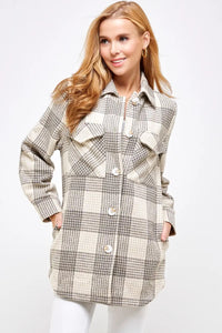 Flannel Gray Plaid Jacket