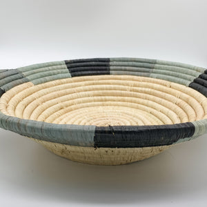 Opal Gray Color Blocked Large Bowl