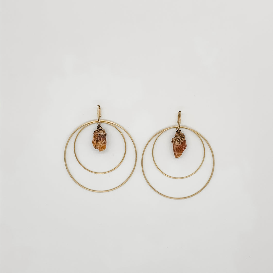 Stone Orbit Hoops
