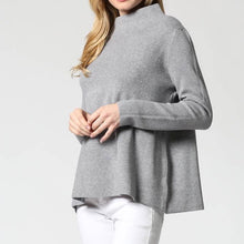 Load image into Gallery viewer, Mock Neck Gray Sweater