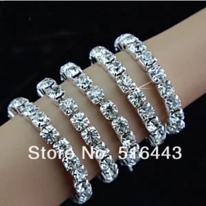 Hot Sale 24pcs Wholesale Jewelry Lots Full Clear Czech Rhinestones Fashion Stretchy Toe Rings for Womens A-809