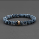 2pcs Charm paired Bracelet for Men gold Crown Women's Bracelets Natural Stone Beads Wristband Boho Couple Bracelet Gifts Friends