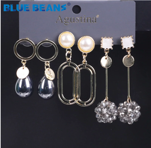 BLUE BEANS 2020 Earring Set For Women Long Earrings Fashion Jewelry Drop Earrings Sets Boho Minimalist Girls Dangle Earring Stud