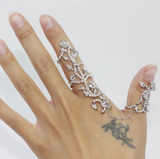 1PC Popular Fashion Women Lady Rings Multiple Finger Stack Knuckle Band Rose Crystal Ring Nice Jewelry Gift
