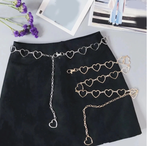 105cm Waistband Pants Classic Waist Chain Love Heart Hollow Girdle For Women Hip Hop Style Fashion Fine Waist Belts 2020 Trendy