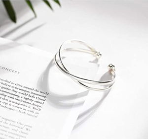 SLUYNZ 925 Sterling Silver Open Bangle Bracelet for Women Fine Jewelry Wedding Engagement Cuff Bracelet