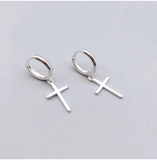 REETI 925 Sterling Silver Earrings Cross Stud Earrings For Women Gift earings fashion jewelry