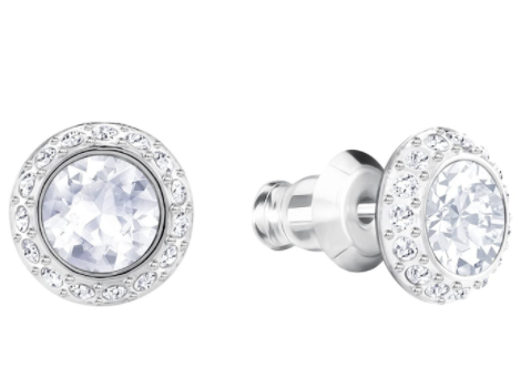 SWAROVSKI Women's Angelic Solitaire Stud Earrings Crystal Jewelry Collection