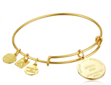 Alex and Ani Women's - Spiral Sun Expandable Charm Bangle Bracelet Shiny Gold Bangle Bracelet One Size