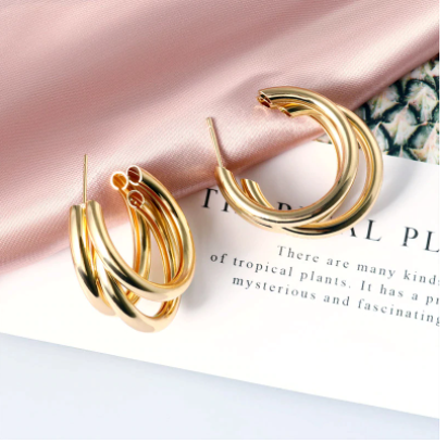 New Fashion Women Dangle Drop Korean Earrings For Women Geometric Round Heart Gold Earring Brincos Jewelry 2019 Double Eleven