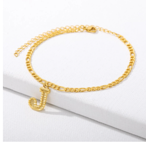 A-Z Initial Letter Anklet For Women Stainless Steel Gold Alphabet Anklets Bracelet Boho Foot Jewelry Gift Women Accesorios Mujer