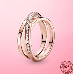 Hot Sale Real 925 Sterling Silver & Rose Gold Color Daisy Flower Ring For Women Original 925 Silver Rings Brand Jewelry Gift