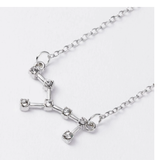 Trendy Shiny Crystal Star Zodiac Sign 12 Constellation Pendent Necklaces Female Elegant Silver Color Choker Necklaces Jewelry