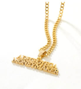 3mm Cuban Chain Name Necklaces & Pendant Letters Custom Name Charm For Men Women Gold Plated Hip Hop Jewelry Birthday Gift