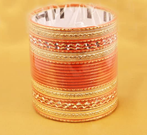 Touchstone New Colorful 2 Dozen Bangle Collection Indian Bollywood Alloy Metal Textured Designer Jewelry Special Large Size Bangle Bracelets Set of 24 in Gold Tone for Women