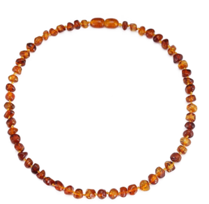 Baltic Amber Teething Necklace/Bracelet for Baby - Simple Package - 7 Sizes - 10 Colors - Lab Tested