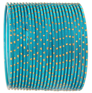 Touchstone New Colorful 2 Dozen Bangle Collection Indian Bollywood Alloy Metal Textured Designer Jewelry Special Large Size Bangle Bracelets Set of 24 for Women