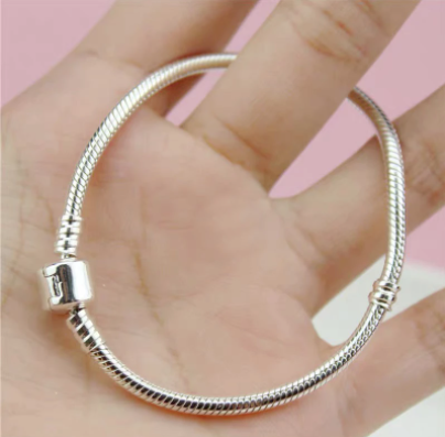Have Certificate 100% Original 925 Silver 3mm Soft/Smooth Snake Bone Chain Bracelet Fit Hand Made Beads/Charms Basis Bracelet