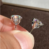 6MM Round White Zircon Stud Earrings For Women Vintage Fashion Gold/Rose Gold/Silver Color CZ Earrings Female Minimalist Jewelry