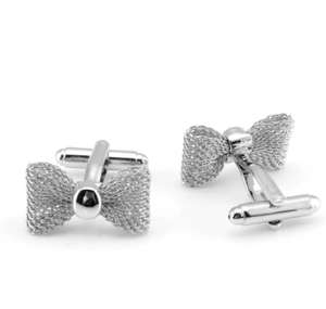 New Trendy Metal Bow Cuff Links Gold Sliver Color Business Party Shirts for Cufflinks High Quality Jewelry Men Gifts Accessories