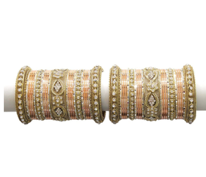 MUCH-MORE Bridal Look Metal Colourful Bangles Karva Chauth & Wedding Wear for Women & Girls