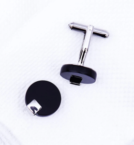 KFLK Jewelry shirt cufflink for mens Brand Black Cuff link Wholesale Button High Quality Round Luxury Wedding Male guests