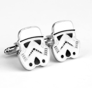 Star Wars Cufflinks Stormtrooper Darth Vader BB8 R2D Millennium Falcon Fighter Knight Cuff Links Buttons Tie Clips Men Jewelry