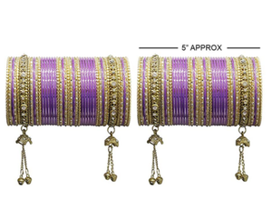 MUCH-MORE Latkan Ghungroo Style Colourful Metal Bangles Karva Chauth & Wedding Wear for Women & Girls