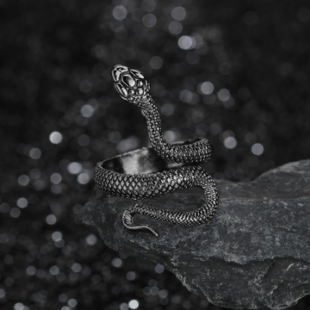 Gothic Retro Exaggerated Spirit Snake Rings for women Punk Wind Snake-Shaped Nightclub Ring Student Trend Jewelry Gift