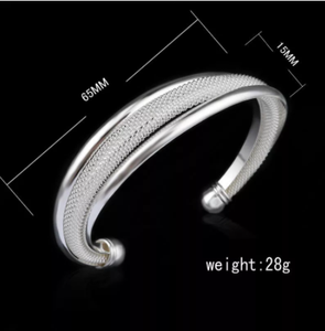 Hot Sale Free Shipping silve plated Bangles Wholesale Fashion Women Bracelets Female Jewelry Elegant Good Quality Gifts 5Styles
