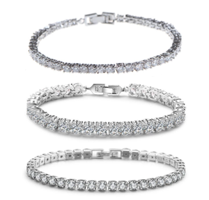 New Cubic Zirconia Tennis Bracelet & Bangles For Women Fashion Lady Jewelry Pulseras Mujer CBP50K