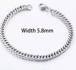 Men's Fashion Stainless Steel Cuban Bracelet Hip-Hop Jewelry