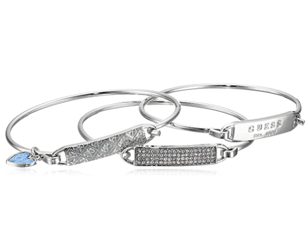 Guess 3 Piece Tension Id Bangle Bracelet