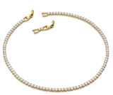 Swarovski Women's Deluxe Tennis Bracelet, Necklace Crystal Jewelry Collection