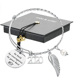 SAM & LORI Inspirational Graduation Gifts Cuff Bracelet Bangle Necklace