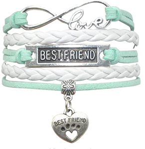 HHHbeauty Best Friend Friendship Bracelet Leather Infinity Love Friendship Gifts Best Friend Bracelets for Women, Men, Girls, Boys, Friends, Lovers, Friendship Gifts