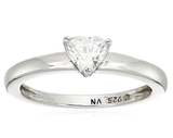 Platinum or Gold Plated Sterling Silver Fancy Shape Solitaire Ring made with Swarovski Zirconia