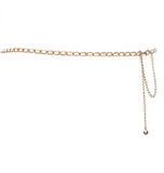 eVogues Plus Size Faux Pearl Gold Chain Link Adjustable Waist Belt