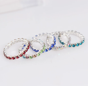 13 Colors Europe American Fashion Beach Rhinestone Toe Rings Summer Sexy Charm Tensile Elasticity Foot Ring Jewelry