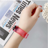 Strap Bracelet For Xiaomi Mi Band 5 4 3 Strap M3 M4 M5 Silicone Transparent color Wrist Strap For MiBand 5 3 4 Wriststrap
