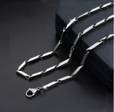 Fashion high-end new titanium steel necklace melon chain stainless steel chain men and women fashion necklace hot sale